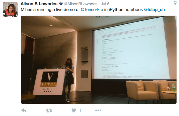 workshop on TensorFlow, by Mihaela Rosca, Google