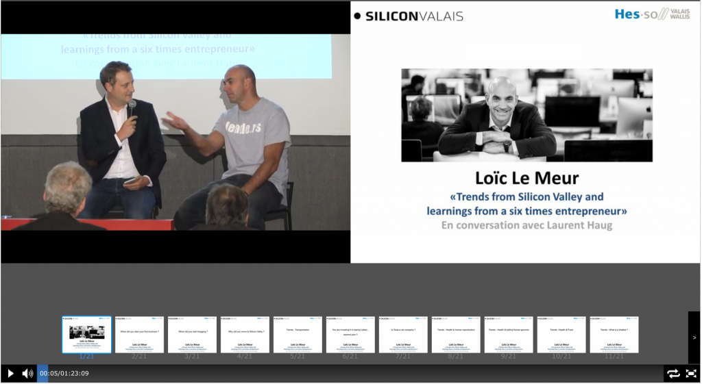 Webcast: Trends from Silicon Valley and learnings from a six times entrepreneur. A conversation between Loic Le Meur and Laurent Haug